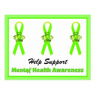 Postales de la conciencia de la salud mental de la