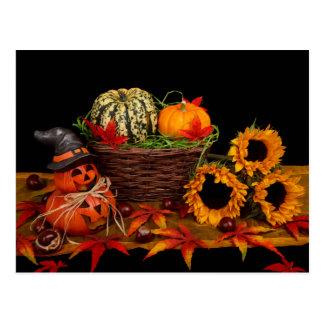 Postales de la decoración de Halloween