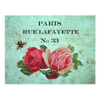 Postales de la dirección de París del vintage