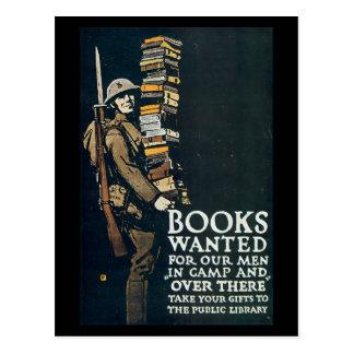 Postales de la guerra del vintage, libros queridos