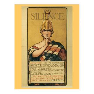 Postales de la guerra del vintage, silencio