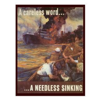 ¡Postales de la guerra mundial, naves flojas del f Postales