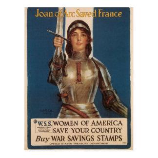 Postales de la guerra, vintage Juana de Arco