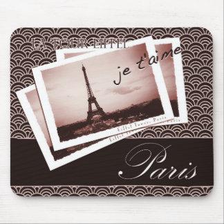 Postales de la ilustración de París Alfombrillas De Ratón