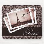 Postales de la ilustración de París Alfombrilla De Ratones