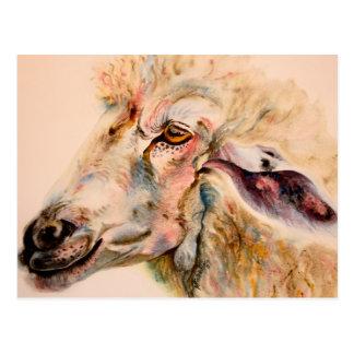 Postales de la impresión de la acuarela de las ove