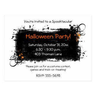 Postales de la invitación del fiesta de Halloween