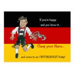 Postales de la invitación del fiesta de Oktoberfes