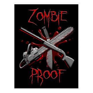 Postales de la prueba del zombi