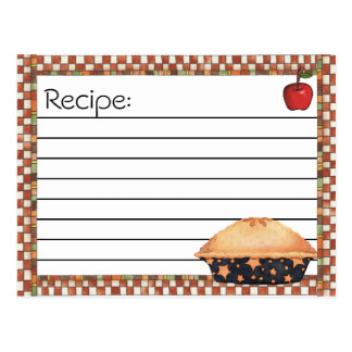 Postales de la receta