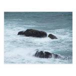 Postales de la roca del océano