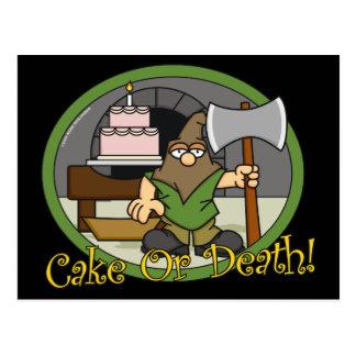 Postales de la torta o de la muerte