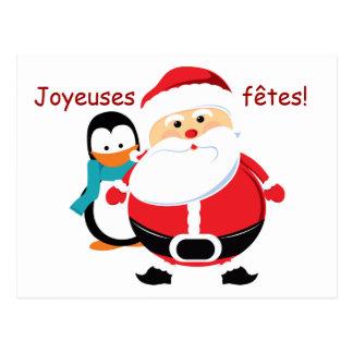 Postales de las cartas de Père Noël y de Manchot