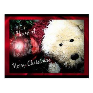 Postales de las Felices Navidad de Beary
