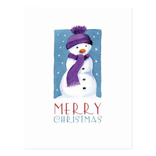 Postales de las Felices Navidad del muñeco de