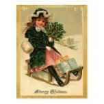 Postales de las Felices Navidad del vintage