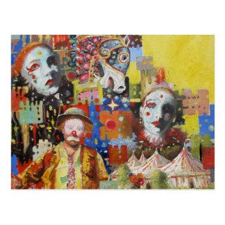 """""""Postales de las memorias del circo"""" Postal"""