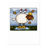 postales de las ovejas del otoño