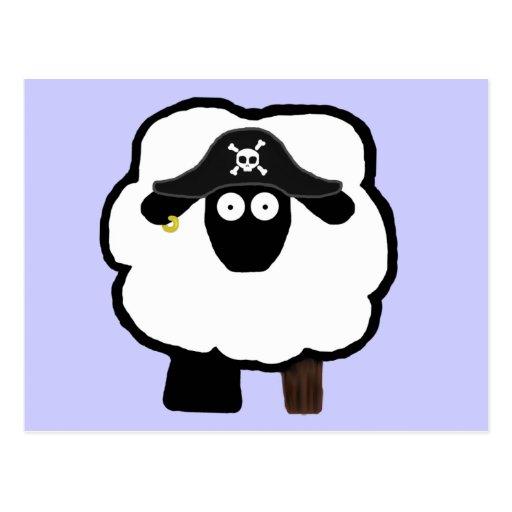 Postales de las ovejas del pirata