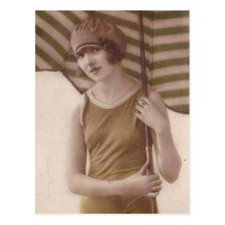 postales de las señoras de la foto del vintage