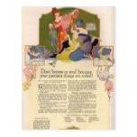 Postales de los anuncios de la belleza del vintage