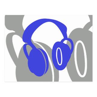 Postales de los auriculares