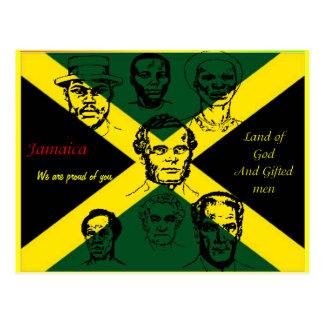 postales de los héroes nacionales de Jamaica orgul