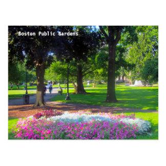 Postales de los jardines públicos de Boston
