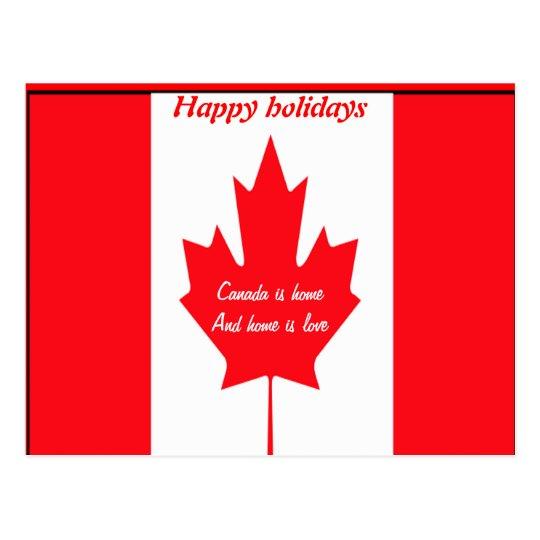 Postales de los saludos de la estación de Canadá