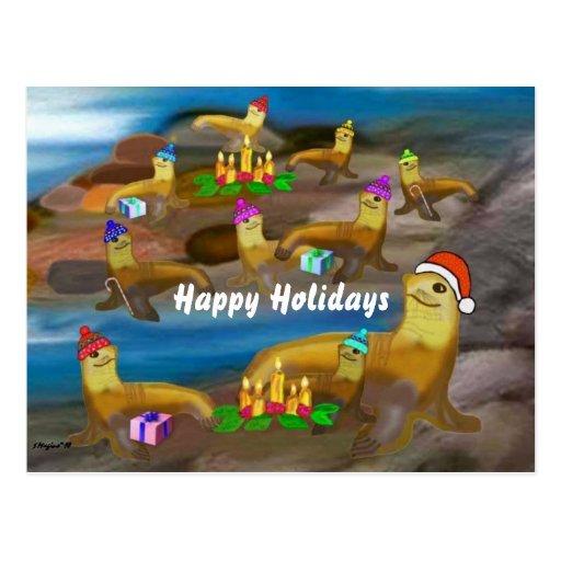 Postales de los saludos del día de fiesta del océa
