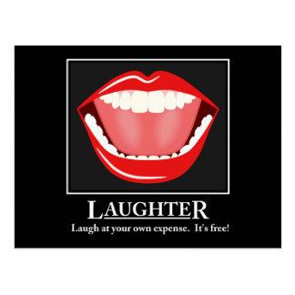 Postales de motivación de la risa divertida grande
