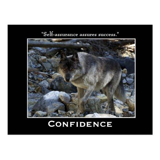 Postales de motivación del lobo gris