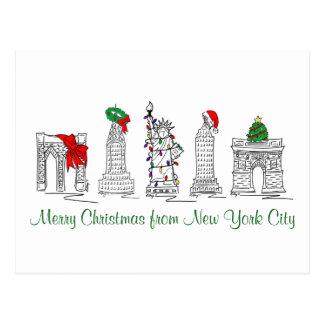 Postales de Navidad de New York City NYC de las