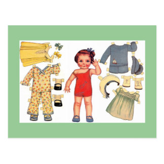 Postales de papel de la muñeca de la muñeca