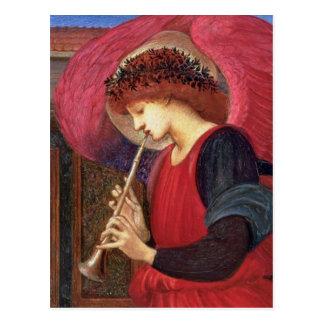 Postales del ángel del navidad - Burne-Jones - roj