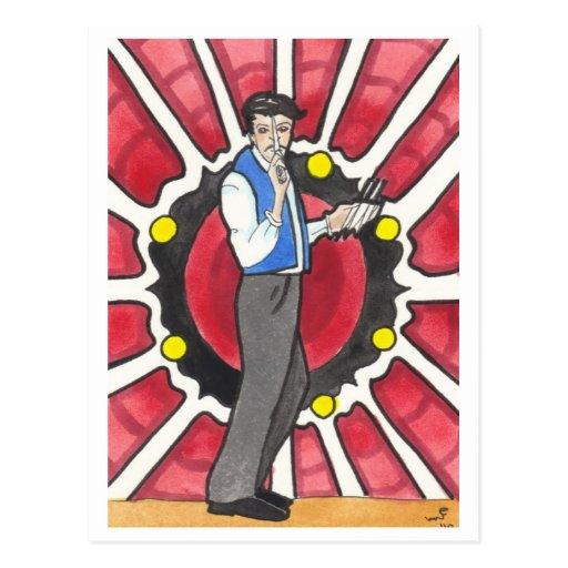 Postales del arte del circo y del papel secundario