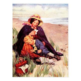Postales del arte del vintage del día de madre
