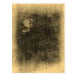 Postales del arte del vintage del oso negro