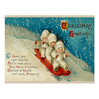 Postales del bebé de la nieve del navidad del Vict