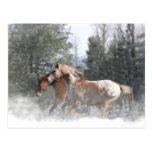 Postales del caballo del día de fiesta del navidad
