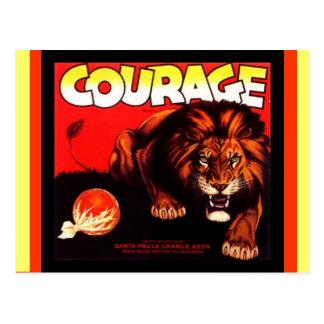 Postales del cajón de la fruta del león de la marc