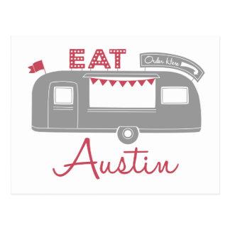 Postales del camión de la comida de Austin Tejas