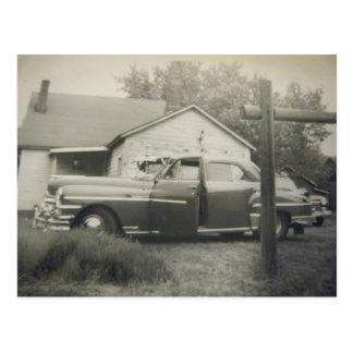 postales del coche del vintage de los años 50