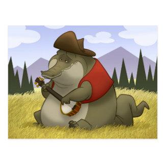 Postales del cocodrilo del Banjo-Strummin'