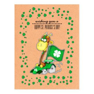 Postales del día de St Patrick divertido de la