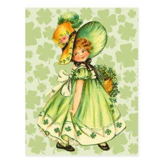Postales del día de St Patrick lindo del vintage
