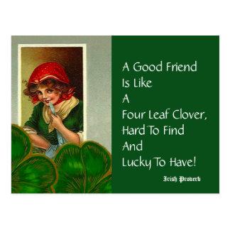 Postales del día del St Patricks del proverbio de