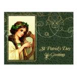 Postales del diseño del vintage del día de St