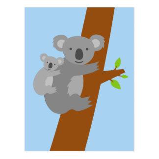 Postales del ejemplo del oso de koala