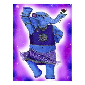 Postales del elefante del baile